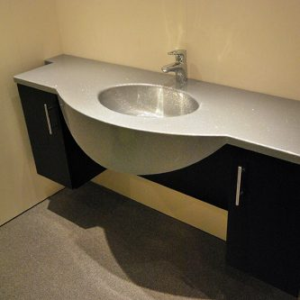 Vanity Top with an Integral Bowl in Hi-Ho Reflect Finish
