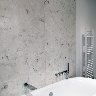 Wall Panels in Arabesque Marble Finish