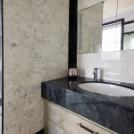 Wall Panels in Arabesque Marble Finish and Vanity Top and Decorative Panels in Glouchester Marble Finish (2)