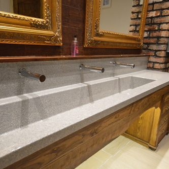 Wash Trough in Mercury Granite Finish