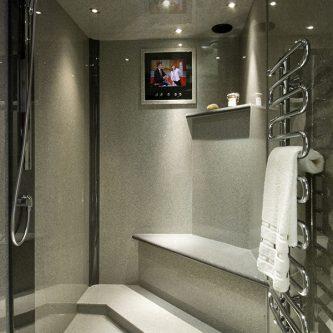 Wet Room in Mercury Granite Finish