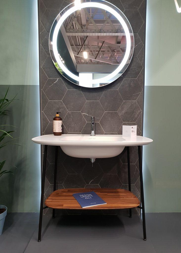 bathroom freestanding sink at sleep and eat
