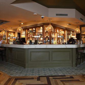 Bar Top in 'Metallic Marble' Copper Stratos
