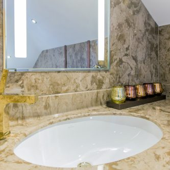 Cream Marble Bathroom